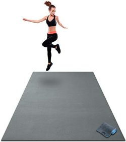 Premium Extra Large Exercise Mat – 7′ x 5′ x 1/4″ Ultra Durable, Non-Sli ...