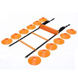 Outroad Speed Agility Training Ladder Set Fitness Equipment Sport Workout Home Gym with 18 ft 12 ...