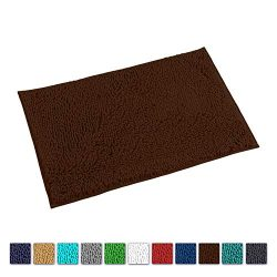 "LuxUrux Bath Mat-Extra-Soft Plush Bath Shower Bathroom Rug,1"" Chenille Microfiber Material ..."