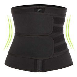 KIWI RATA Neoprene Sauna Waist Trainer Corset Sweat Belt for Women Weight Loss Compression Trimm ...