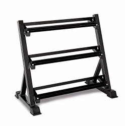 Bonnlo 3 Tier Dumbbell Rack Only, 660 LBS Load-Bearing Heavy Duty Steel Dumbbell Stand Quick Ass ...