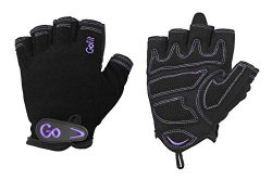 GoFit Xtrainer Cross Training Glove – Synthetic Leather Palm for Women – Large