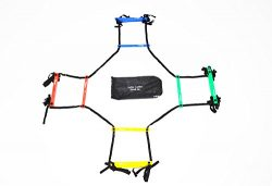 Uber Soccer Speed and Agility Ladder – Adjustable Plastic Rung – Quad