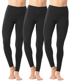 90 Degree By Reflex High Waist Power Flex Legging – Tummy Control – Black 3 Pack  ...