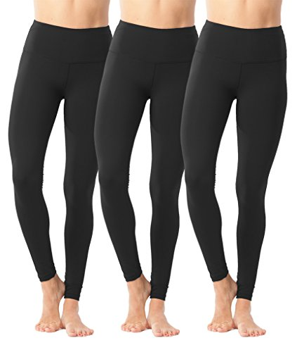 90 Degree By Reflex High Waist Power Flex Legging – Tummy Control – Black 3 Pack  ...