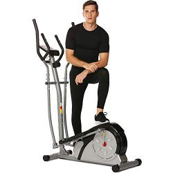 emdaot Elliptical Machine Trainer for Home Use, Exercise Cardio Workout Fitness with Digital Mon ...