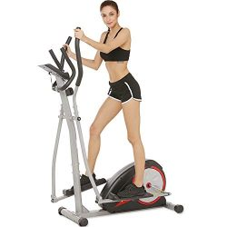 Aceshin Elliptical Machine Trainer Compact Life Fitness Exercise Equipment for Home Workout Offi ...
