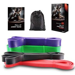 Whatafit Pull Up Assist Bands Best Resistance Stretch Band for Men and Women. Crossfit Assistanc ...
