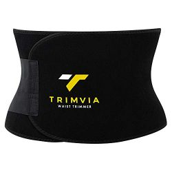 TRIMVIA Waist Trimmer for Men and Women, Waist Trainer, Sweat Belt Abdominal Weight Loss, Premiu ...