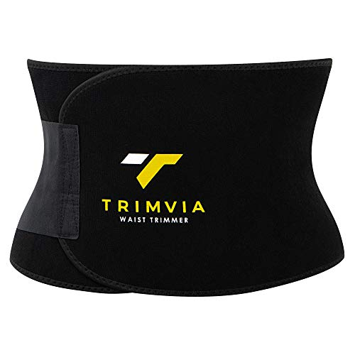 TRIMVIA Waist Trimmer for Men and Women, Waist Trainer, Sweat Belt Abdominal Weight Loss, Premiu ...
