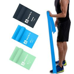 A AZURELIFE Professional Resistance Bands Set, Different Resistance Levels of Exercise Bands, 5  ...