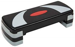 BalanceFrom Adjustable Workout Aerobic Stepper Step Platform Trainer, 4 Removable Raisers Included