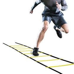 Fsskgx Speed Agility Ladder, 4m Football Flexibility Training Kit Jumping Ladder