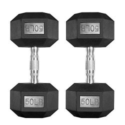 PAPABABE Dumbbells Free Weights Dumbbells Set Man Women Home Weight Set Rubber Coated cast Iron  ...