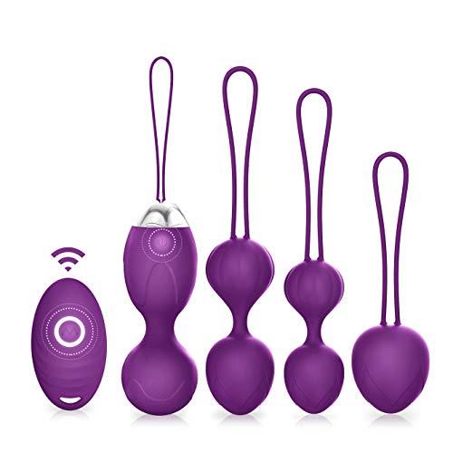 Kgel Balls – ACVIOO Ben Wa Balls 5 in 1 Kegel Exercise Weights Pelvic Floor Exercises Blad ...