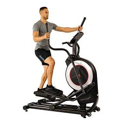Sunny Health & Fitness Electric Eliptical Trainer Elliptical Machine w/Tablet Holder, Progra ...