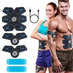 KeShi Abs Trainer Muscle Trainer Rechargeable Ultimate Muscle Toner for Men Women Abdominal Work ...