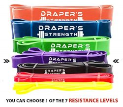 Draper's Strength Heavy Duty Pull Up Assist and Powerlifting Stretch Bands (Single Band or ...