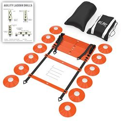 ALL Out Sports & Gear Agility Ladder and Cones Set Training Equipment for Soccer, Football,  ...