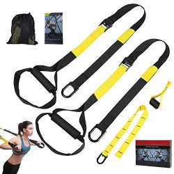 ATYIME Bodyweight Fitness Resistance Trainer Kit, Home Gym & Outdoor Fitness Training Straps ...
