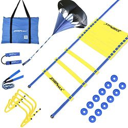 JOGENMAX Speed & Agility Training Set – Includes Resistance Parachute, Agility Ladder, ...