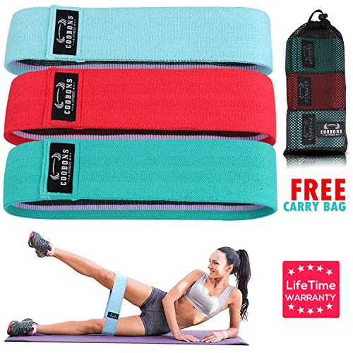 Resistance Bands for Legs and Butt,Exercise Bands Set Booty Bands Hip Bands Wide Workout Bands R ...