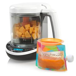 Baby Brezza Small Baby Food Maker Set – Cooker and Blender in One to Steam and Puree Baby  ...