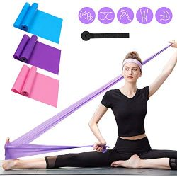 Resistance Bands Set, 3 Pack Professional Latex Elastic Bands for Home or Gym Upper & Lower  ...