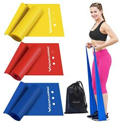 Exercise Resistance Bands Set,Workout Bands of 3 Different Strengths,5FT Long Sports Fitness Ban ...