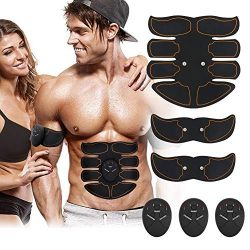 nxcooply Abdominal Muscle EMS Abs Muscle Trainer Smart AB Toning Home Office Smart EMS Body Abdo ...