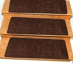 Ottomanson Comfort Collection Stair Tread, 14 Pack, Brown