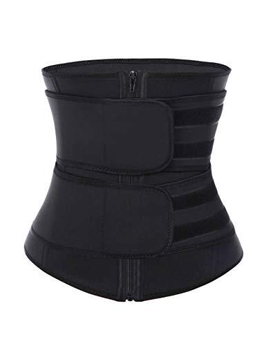 DANALA Women's Waist Cincher Neoprene Zipper Velcro High Compression Waist Trainer Corset  ...