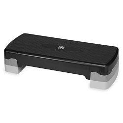 Gaiam Essentials Exercise Step Platform Aerobic Stepper Bench | Fitness Equipment Workout Deck w ...
