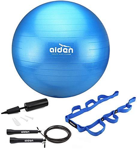 OLIVIA & AIDEN Exercise Ball Set – 65cm Anti-Burst Balance Ball for Yoga, Pilates, Bir ...