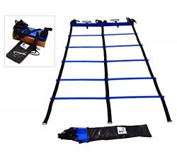 Cintz Speed Ladder, Dual Agility Ladder 15 ft – Blue Color, Comes with a Free Carry Bag