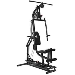 Goplus Multifunctional Trainer Free Weight Strength Training Home Gym Station Workout Machine fo ...