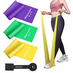 RENRANRING Resistance Bands Set, Exercise Bands for Physical Therapy, Yoga, Pilates, Rehab and H ...