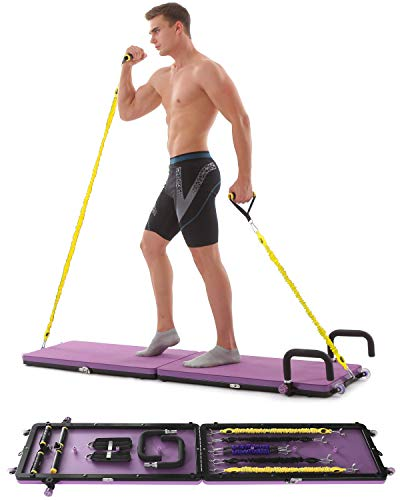 Home Gym Workout Fitness Platform,Portable Full Body Exercise Home Gym Workout Kit with Resistan ...