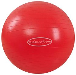 BalanceFrom Anti-Burst and Slip Resistant Exercise Ball Yoga Ball Fitness Ball Birthing Ball wit ...