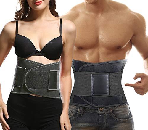Sweat Belt Waist Trainer for Women & Men -Abdominal Elastic Waist Ab Cincher Trainer Trimmer ...