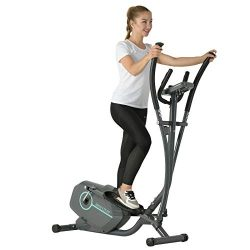 Murtisol Magnetic Elliptical Trainer Exercise Bike Machine with LCD Monitorer,8 Level Resistance ...