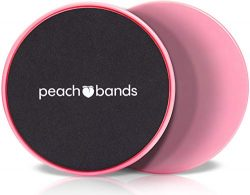 Peach Bands Core Sliders Fitness – Dual Sided Exercise Discs for Abs and Core