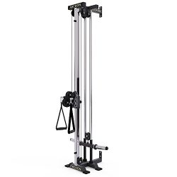 ARCHON Wall Mount Commercial Ball Bearing Cable Station | 17 Position Adjustable Dual Pulleys |  ...