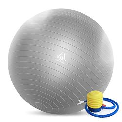 Forbidden Road Exercise Yoga Ball (45CM-85CM, 4 Colors) 200 lbs Anti-Burst Slip-Resistant Yoga B ...