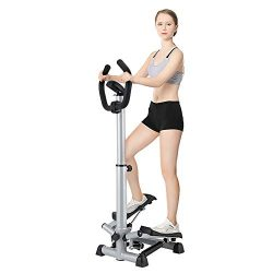 Ejoyous Stepper for Exercise, Adjustable Workout Step Machine Folding Twist Stair Stepper with H ...