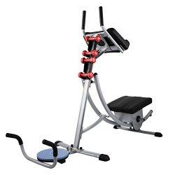 Popsport Abdomen Machine 330LBS Abdominal Coaster Abdomen Exercise Equipment with Adjustable Sea ...