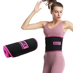 Neoprene Sweat Waist Trimmer Belt, Best Abdominal Waist Trainer Corset, Waist Trainer Belt for L ...