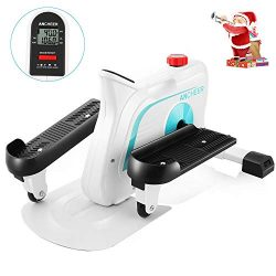 ANCHEER Under Desk Elliptical Trainer Pedal Exerciser Bike for Home Office Exercise, Mini steppe ...
