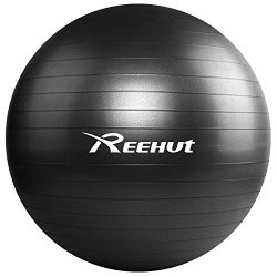 REEHUT Exercise Ball (55cm) Extra Thick Yoga Ball Chair, Anti-Burst Supports 1100lbs – Inc ...