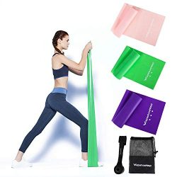 Renranring Resistance Bands Set of 3 Pack Non-Latex Elastic Exercise Bands,5 Feet Long Stretch W ...